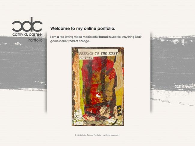 Screenshot of Cathy Casteel Portfolio home page