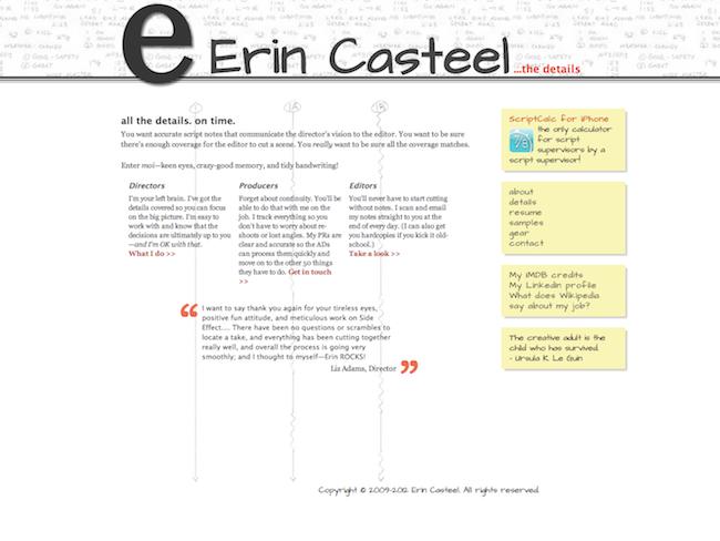 Screenshot of my script supervising website